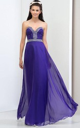 A-Line Sweetheart Beading Prom Dress