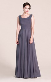 Charming Sleeveless A-line Pleated Chiffon Dress