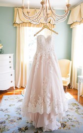 Newest Lace Tulle Princess 2018 Wedding Dress Sweetheart Sweep Train