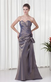 Floating Maxi Taffeta Sweetheart Sleeveless Mother of the Bride Dresses