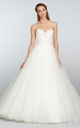 Enchanting Tulle Ball Gown With Beaded Floral Embellished Bodice