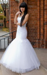 Fit and Flare Lace and Tulle Dress With Sweetheart Neckline