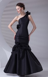 Adorable Sleeveless Trumpet Taffeta Maxi Special Occasion Dresses