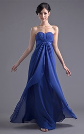 Charming Sleeveless Sweetheart Chiffon Satin Bridesmaid Dresses
