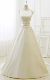 A-Line Ball Gown Tea-Length Scoop 3-4 Sleeve Long Sleeve Beading Jacket Chiffon Tulle Lace Sequins Organza Satin Dress