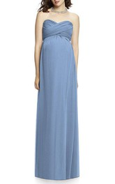 Maternity Sweetheart Criss-cross Empire Chiffon Dress