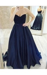 Elegant Sweetheart Beadings Prom Dresses 2018 A-Line Party Gowns