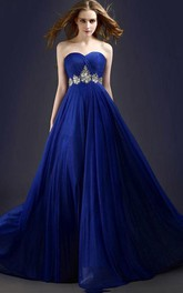 Stunning A-Line Sweetheart Beading Long Prom Dress
