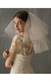 Chic White Two Layer Tulle Shoulder Veil