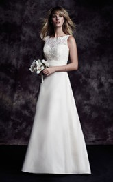 Taffetqa Long Elegant Dress With Bow And Deep-V Back