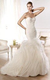 Wonderful Sweep Sweetheart Fishtail Gown
