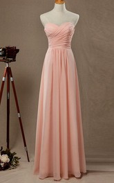 Empire Strapped Sweetheart Empire Chiffon&Satin Dress