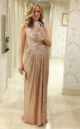 Glamorous Sequined A-line Maternity Prom Dress 2018 Straps Sleeveless