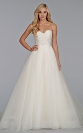 Magnificent Sweetheart Lace Bodice Tulle Ball Gown