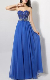 Glittering Sweetheart A-Line Full-Length Prom Dress