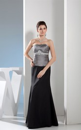 Sleeveless Maxi Ruched Gemmed Waist and Dress With Ruching