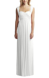 Anne Queen Ruched Floor-length Bridesmaid Dress