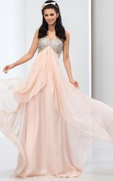 Sweetheart Sequins Beaded Prom Dress