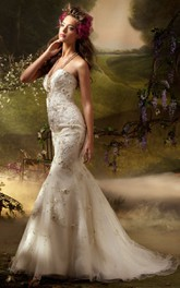 Alluring Beaded Embroidered Tulle Dress With Sweetheart Neckline