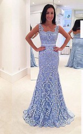 Mermaid Floor-length Appliques Lace Dress