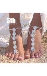 Western Style Retro Indian Gypsy Ethnic Style Exaggerated Drip Diamonds Anklet