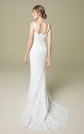 Romantic Mermaid/Trumpet Lace Bridal Gown With Straps