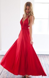 Sexy A-line Sleeveless Red Detached Prom Dress Floor-length