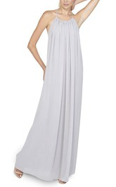 Grecian Halter Ruched Chiffon Bridesmaid Dress