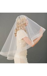 Korean Style Simple Wedding Horsehair Veils