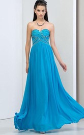 Sweetheart Draped Beading Sequins Prom Dress
