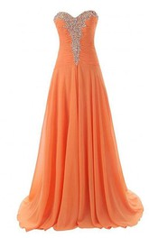 Fantastic Sweetheart Beaded Lace-Up Long Prom Dress