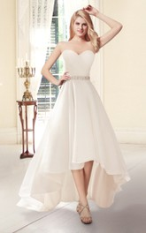 Sweetheart A-line High-Low Wedding Dress