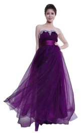 Sweetheart Empire Layered Gown With Beaded Bustline