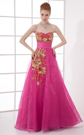 Romantic Sweetheart Sleeveless Pleated Satin Organza Special Occasion Dresses