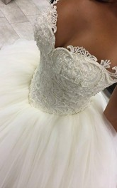 Gorgeous Sweetheart Beadings Princess Wedding Dress 2018 Ball Gown Tulle