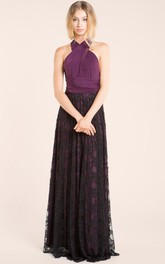 Long Purple Lace Aubergine Lace Long Purple Black Lace Aubergine Eggplant Lace Gown Black Lace Bridesmaid Dress