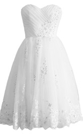 Sweetheart A-line Bridal Dress With Sequins