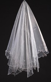 New Simple Pearl Beaded Soft Net Veil