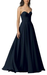 Sweetheart A-line Chiffon Bridesmaid Dress with Ruching