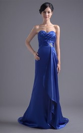 Alluring Sleeveless Beaded Fit N Flare Special Occasion Dresses
