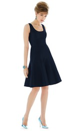 Simple Sleeveless Dress With Scoop Neckline