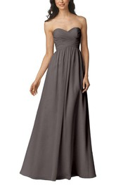 Strapless Criss-cross Chiffon Bridesmaid Dress