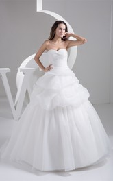 Sweetheart Pick-Up Criss-Cross Gown With Pleats
