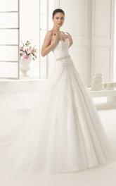 Amazing Laced Bodice Straplees Gown With Cap-Sleeved Cape