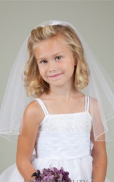 New Korean Simple Sweet Double Layers Flower Girl Veil