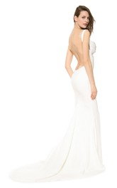 Elegant Long Backless Mermaid Dress with Backless Style