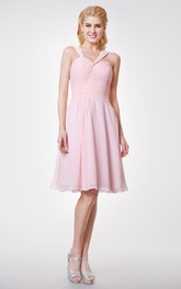 Unique Asymmetrical Sweetheart A-line Chiffon Knee Length Dress