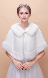 Bride Wedding Shawl Winter Warm Korean Fur Collar Cape Cloak