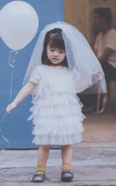 Double Layers Simple Style Tulle Flower Girl Veil