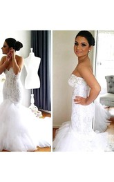 Beads Sequins Crystals Jewel Neck Detachable bolero Button Mermaid Lace Wedding Dress